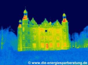 Infrarotaufnahmen des Ahrensburger Schlosses